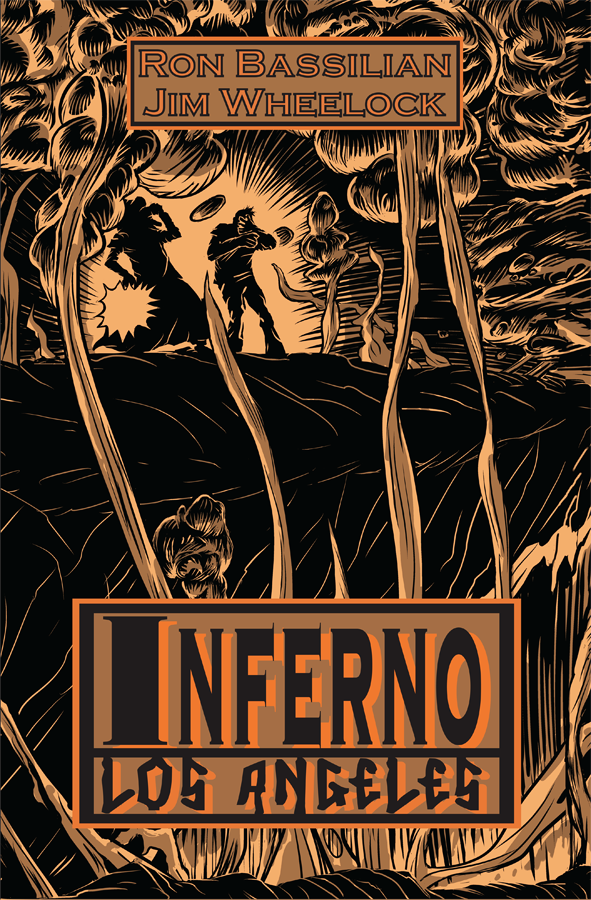 Cover page to the venerable graphic novel, Inferno Los Angeles.